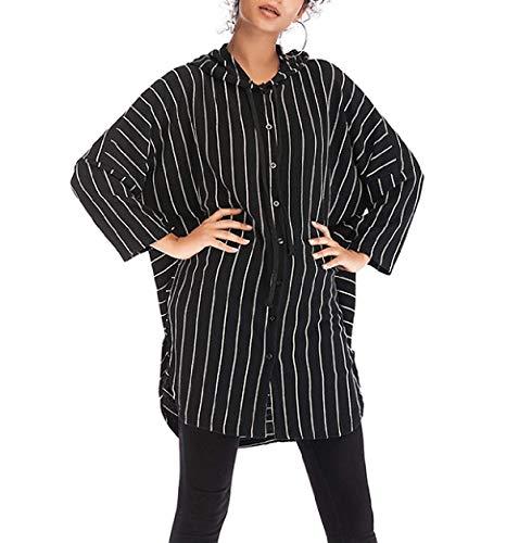 f08dd4b73fdd9 Cazadora Abrigos Ocasional Capucha Tops Jacket Suéter Outwear Larga Negro  Hoody Moda Chaquetas Mujeres Coat Rayas Manga Primavera Otoño ...
