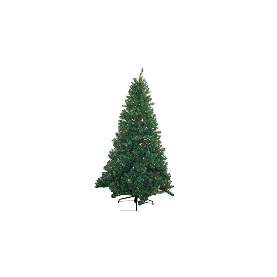 6.5 Mountain Spruce Artificial Christmas Tree   Pre Lit Multi Color Lights