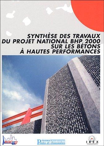 Synthèse des travaux du projet national BHP 2000 sur les bétons à hautes performances Broché – 2 juin 2005 285978408X TL285978408X Bâtiment Béton armé