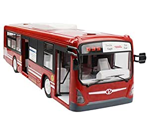 Amazon Com Rc City Bus Cr 2 4ghz Remote Control City Bus