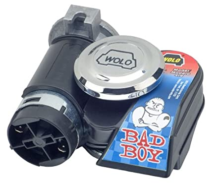 12 Volt Wolo Model 419 Bad Boy Black One Piece Design Air Horn Kit