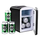 Pathfinder Portable Car Refrigerator Mini Fridge Cooler&Warmer 4 L/6 Cans, 110V&12V Power for Home, Office and Car