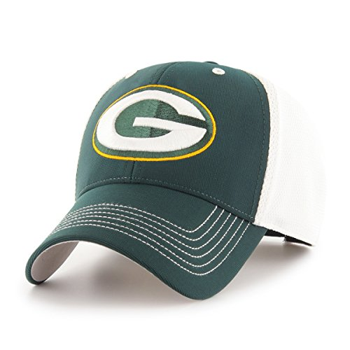 OTS NFL Green Bay Packers Sling All-Star MVP Adjustable Hat, Dark Green, One Size - Dark Green Mesh Cap