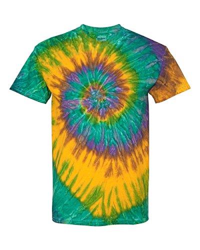 Gildan Tie Dye T Shirt 87 Crew Neck Men's Cotton Ripple Tee L Nola (Cheap Tie Dye Shirts)