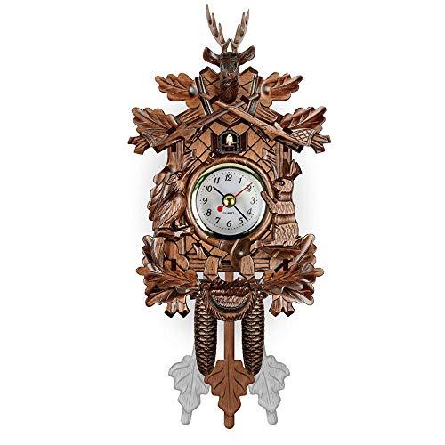 (A.Vin Wall Clocks Stylish Light Luxury European Wooden Cuckoo Wall Clock Living Room Office @ 03 )