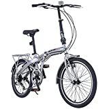 "Image of ORKAN 20"" MTB Folding bike Sports Shimano 6 Speed Silver Bike SLIVER"