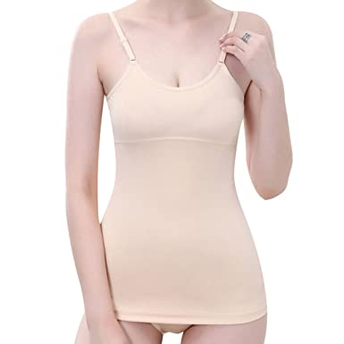 8fbe734e734 Everbellus Body Shaper Cami Vest Tummy Control Shapewear Tops for Women   Amazon.co.uk  Clothing