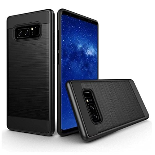 Black Plastic Slimline Body (Urberry Galaxy S8 Case, Armor Shockproof Case for Samsung Galaxy S8 with a Free Screen Protector (Black))