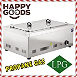 PROFESSIONAL Propane Gas 2 Compartment Commercial Bain-marie Buffet Food Sause Desktop Countertop Warmer Steamer Steam Table 2 POT INCLUDED 2 LID INCLUDED COMPLETE SET