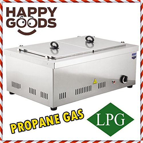 - PROFESSIONAL Propane Gas 2 Compartment Commercial Bain-marie Buffet Food Sause Desktop Countertop Warmer Steamer Steam Table 2 POT INCLUDED 2 LID INCLUDED COMPLETE SET