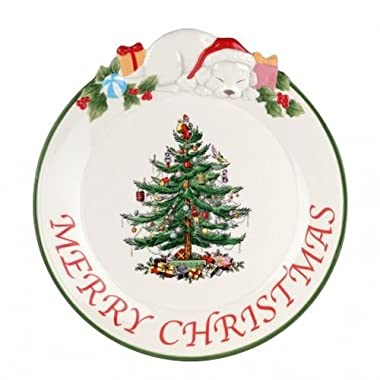 Spode Christmas Tree Puppy Platter