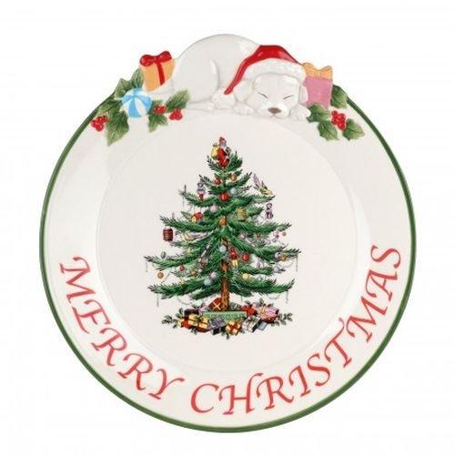 Spode Christmas Tree Puppy Platter (Spode Christmas Tree 12 Piece Dinner Set)