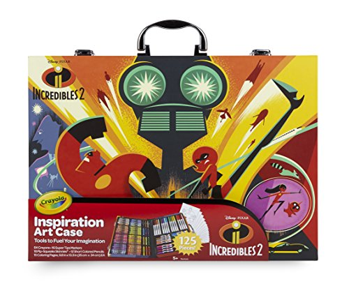 Crayola Disney Pixar Incredible 2 Inspiration Art Case, 125 Pieces