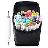 Best Color Markers - 30 Color TOUCHNEW Marker Pen Set Dual Tips Review