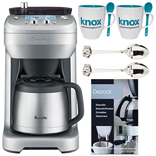 Breville The Grind Control Coffee Grinder (Stainless) + 2 Free Knox Mugs + 2 Demi Spoons + Descaling Powder by Breville