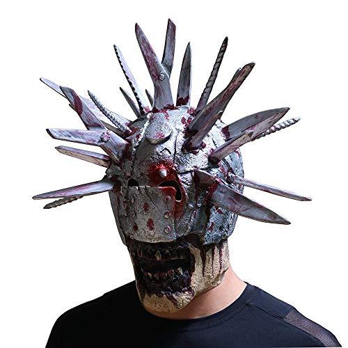 Jiistar Halloween Horror Mask Blade Man Creative Thriller Creepy mask Scary Halloween Costumes]()