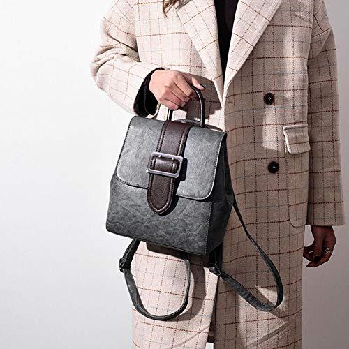 23 College grigio cintura da borsa donne fibbia 25 diagonale 25 cm 23 Mmsm viaggio per Cm Wild 11 Wind Zaino rosa Retro qwgWUXSH