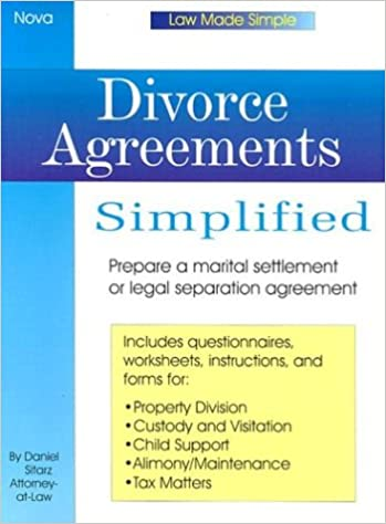 Divorce Agreements Simplfied Law Made Simple Daniel Sitarz