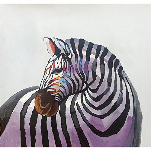 - Yqm Art - Paint Horse 100% Hand-painted Original oil painting Modern Art Canvas Painting Hand Painted Zebra Abstract Paint Horse Oil Painting On Canvas