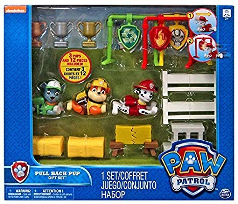 Buy paw patrol pull back gift set