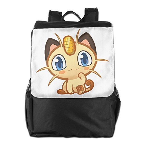 Wonder Woman Costume Spotlight - AIJFW Outdoor Travel Bag - Cute Meowth Unisex Backpack Daypack Bookbags Rucksack Gym Bag