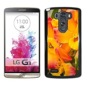 New Custom Designed Cover Case For LG G3 With Yellow And Pink Orchids Flower Mobile Wallpaper Phone Case