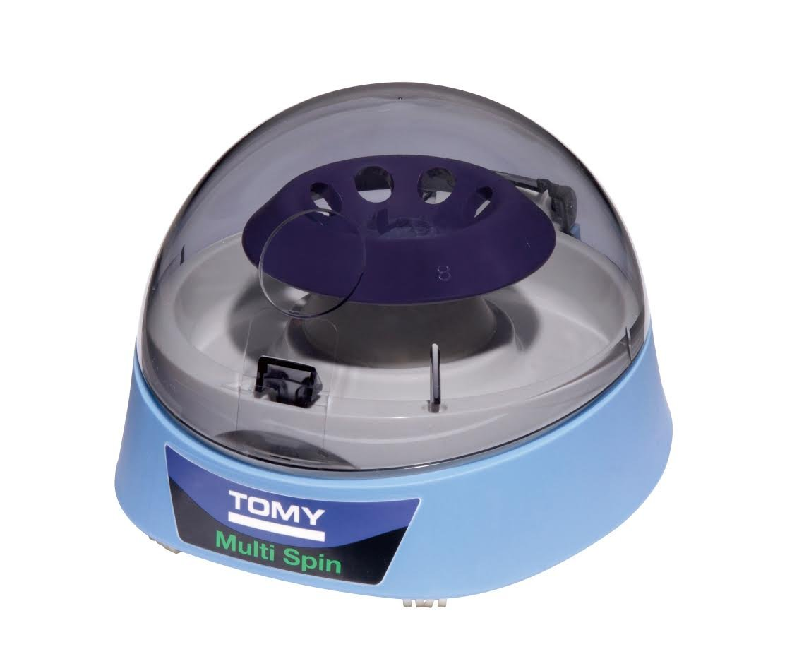 Tomy Multi Spin Cordless, Battery-Powered / Battery-Operated Mini Centrifuge (Also Includes AC Adapter), Made in Japan