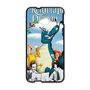 HTC One M7 Phone Case Cover Black Reluctant Dragon EUA15986094 Clear Phone Cases Generic