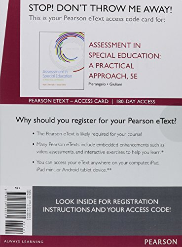 Assessment In Special Education Access