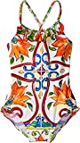 Dolce & Gabbana Kids Baby Girl's Swimsuit One-Piece (Infant) Maiolica Print 9-12