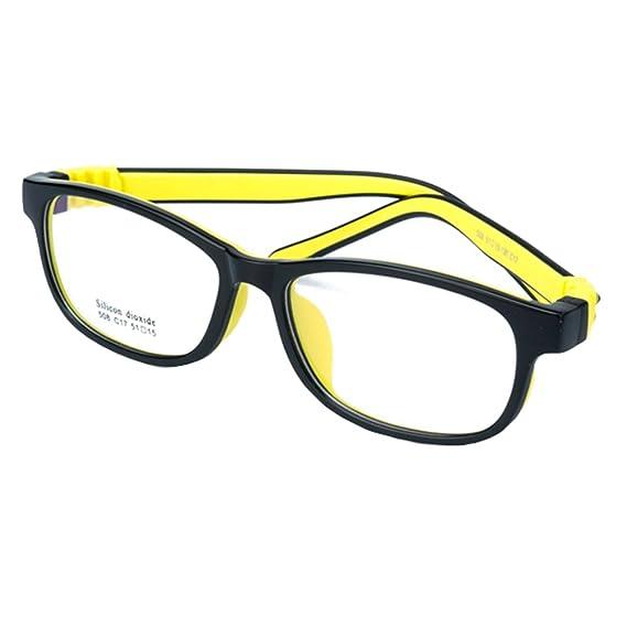 f631e40cc4 Hibote Gafas para niños - Silicona - Gafas de lentes transparentes marco  Geek/Nerd gafas con forma de coche gafas caso: Amazon.es: Ropa y accesorios