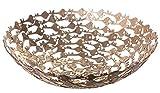 Oriental Style Golden Key Decorative Centerpiece Bowl, 12 Inches