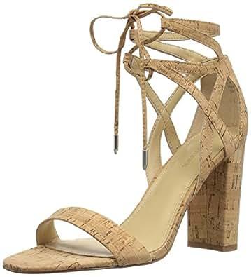 Marc Fisher Women's Fatima Heeled Sandal, Natural, 6 Medium US