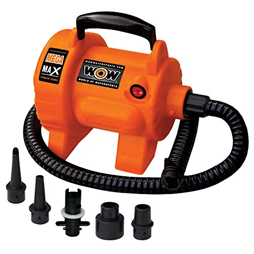 Wow World of Watersports 16-4000, Mega Max 120 Volt Electric Air Pump, 12 Foot Cord, High Pressure