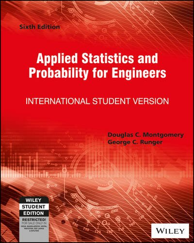 Applied Statistics and Probability for Engineers; 6ed; ISV