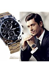 Business Mens Watch Franterd Stainless Steel Band Machinery Sport Quartz Watch