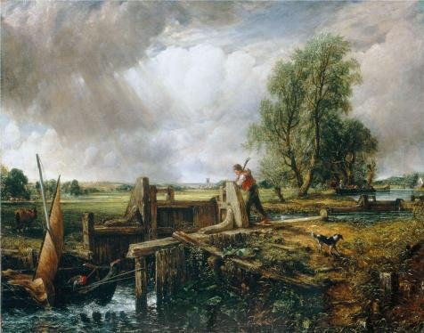 Oil Painting 'John Constable,The Lock,1824', 10 x 13 inch / 25 x 32 cm , on High Definition HD canvas prints is for Gifts And Bed Room, Laundry Room And Nursery Decoration, personal