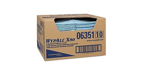 13 1//2 x 24 Spunlace Blue WypAll X80 Foodservice Paper Towel 150//Carton