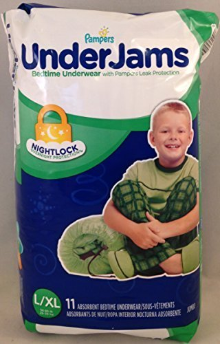 Pampers UnderJams Boys' Absorbent Bedtime Underwear, Jumbo P