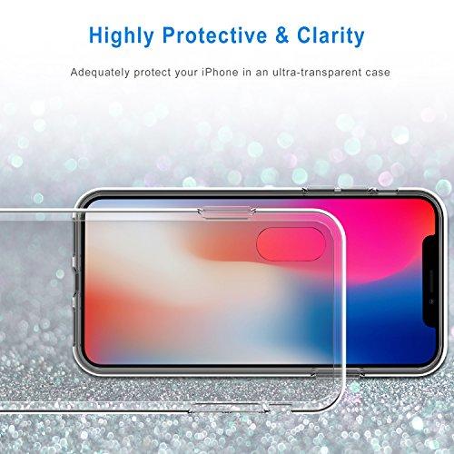 Coque iPhone X, JETech iPhone X Case Coque Housse Etui Shock-Absorption Bumper et Anti-Scratch Effacer Back pour Apple iPhone X 5.8 Inch (HD Clair)
