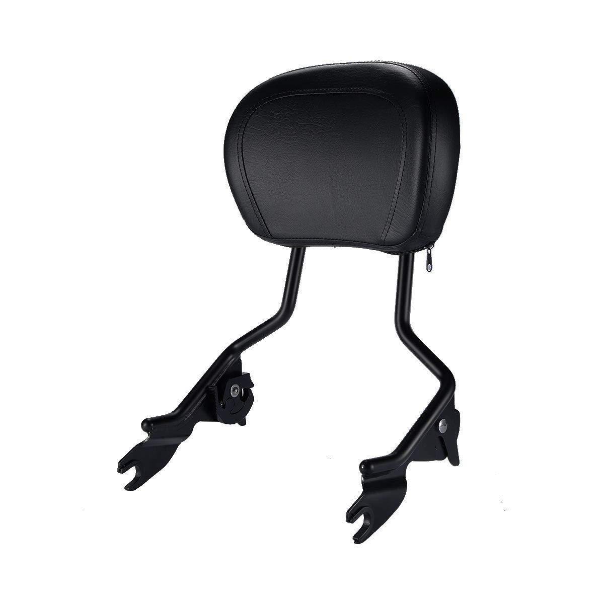 XMT-MOTO Detachables Sissy Bar Upright w/Backrest pad fits for Harley Davidson Touring 2009-2019,Matte Black