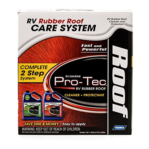 Camco 41453 Pro Tec Pro Strength Rubber Roof Care System   2   Rubber