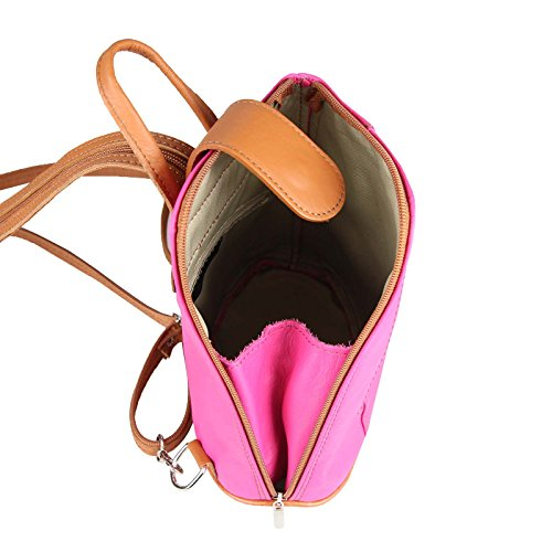 Noir Bonbon cm pour noir ITALYSHOP24 au Sac rouge à dos porté main 22x23x12 Rose BxHxT COM femme ca TgxqxwFz