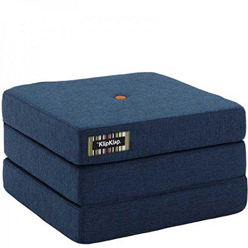by Klipklap 3 fold single Multipuf - Dark Grey with Orange Button