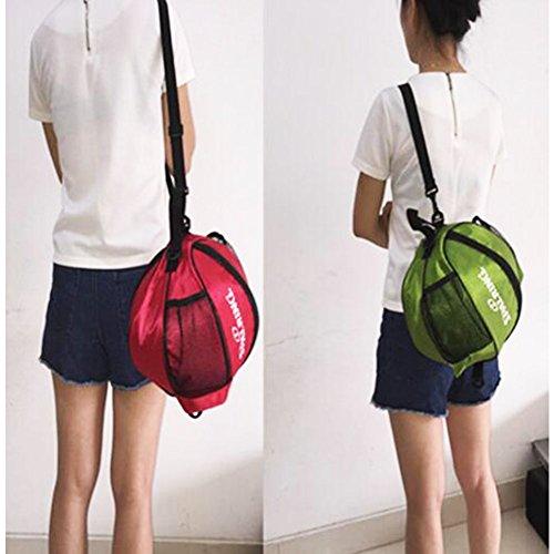 George Jimmy Fashion Cool Basketball Bag Training Bag Single-shoulder Soccer Bag-Green by George Jimmy (Image #1)