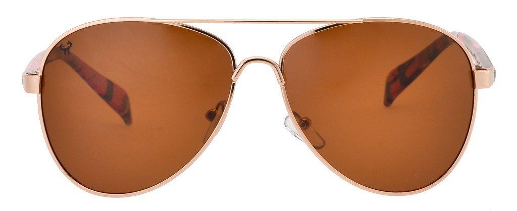Hornz Camuflaje del Rosa polarizados Gafas de Aviador para Las Mujeres y Que Coinciden con Bolsa de Microfibra – Pequeña o Mediana Tamaño de la Cara - ...