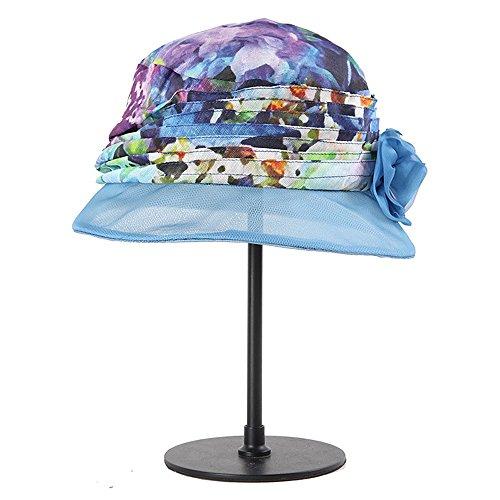 Xinguang Alto Grado Solar Verano Ying Negro color Para De Seda Azul Sombrero Protector Coreano Plegable Mujer d77qPwSa