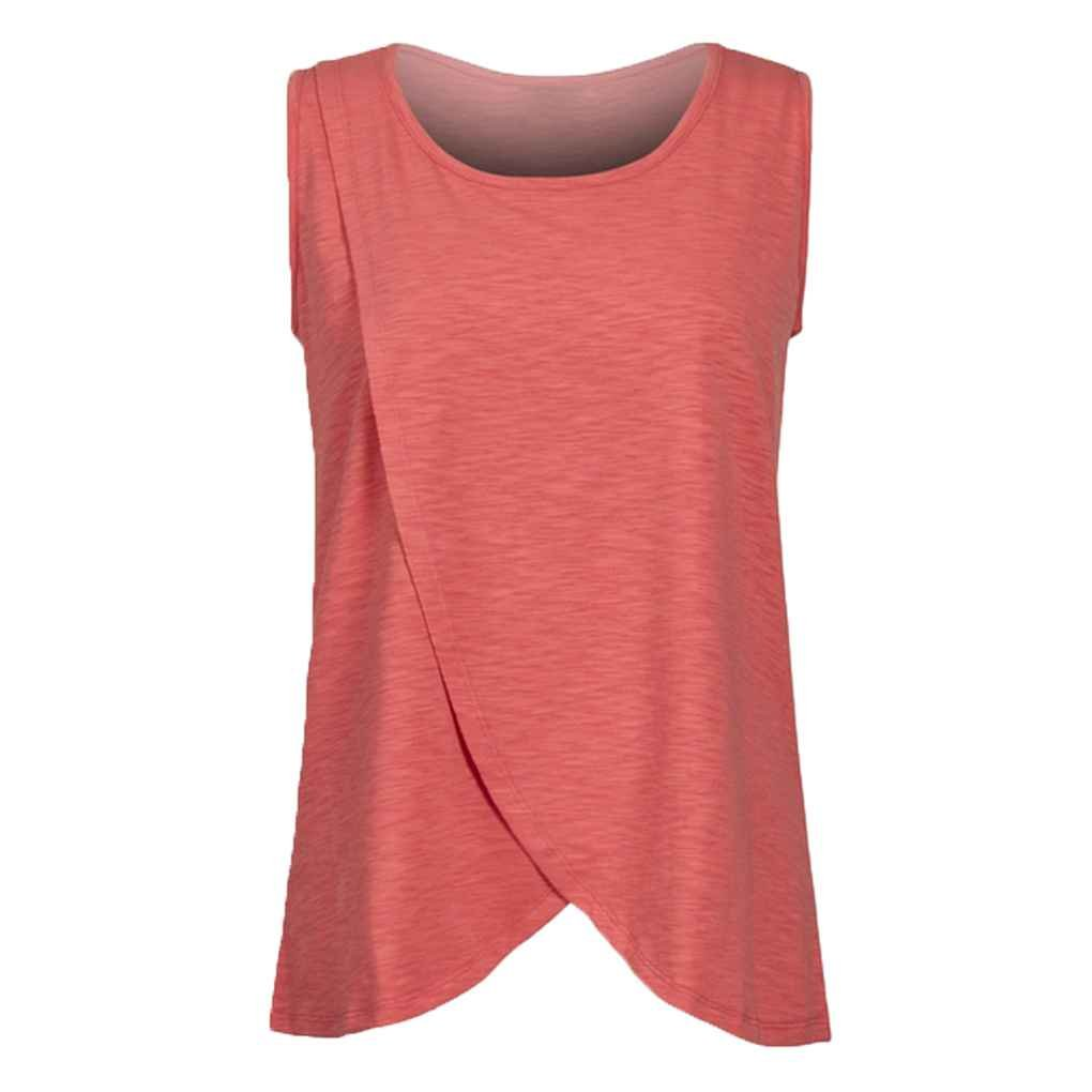 MuLuo Women Elastic Nursing Tank Tops Summer Breast Feeding Vest Clothes Pregnant Breastfeeding Maternity Soft T-Shirts