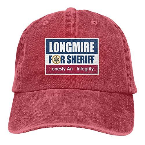 (YBHAT Longmire for Sheriff Men & Women Pigment Dyed Baseball Cap Adjustable Red)