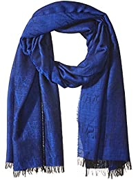 Armani Exchange Men's Solid Wool and Modal Fabric Scarf